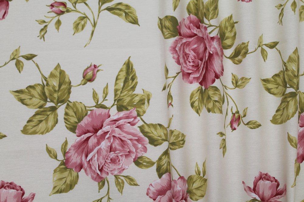 Dekorační látka- DANIELA LILA, fialové a okrové květy
